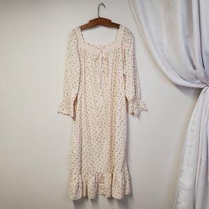 VICTORIA'S SECRET Romantic Flannel Nightgown